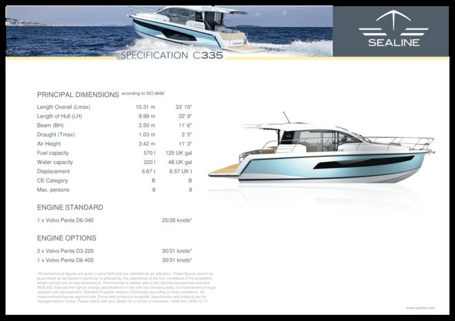 Sealine C335 | Standard Specification | Sealine