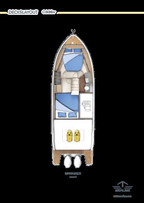 Sealine C335v Нижняя палуба