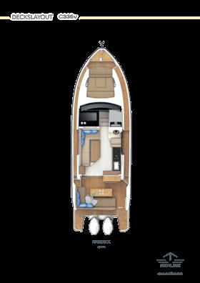 Sealine C335v Главная палуба