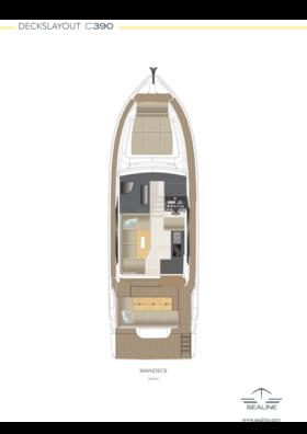 Sealine C390 Layout - Main deck