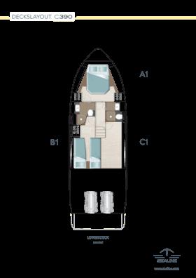 Sealine C390 Layout - Lower deck