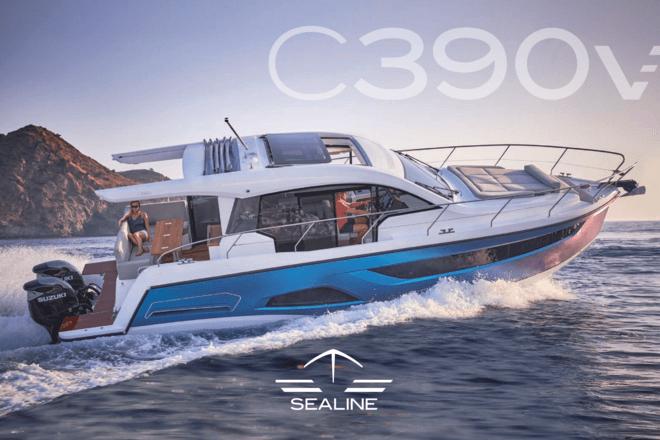 Sealine C390v Brochure | Tous les yachts Sealine sont nés des mêmes valeurs : Ils présentent de grands espaces intérieurs, une quantité étonnante de lumière naturelle et combinent un design exceptionnel avec l'ingénierie allemande. En ce qui concerne ces marques, le C390v affiche le véritable esprit de Sealine. | Sealine