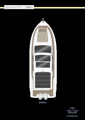 Sealine C390v Disposition - pont principal