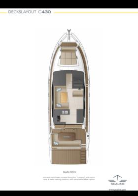 Sealine C430 Layout - Main deck