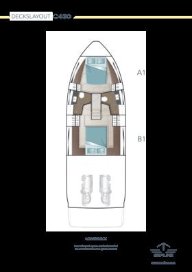 Sealine C430 Layout - Lower deck