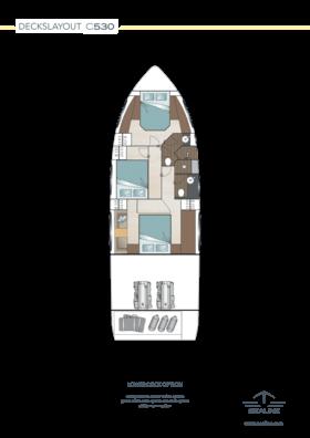 Sealine C530 Disposition - Pont inférieur