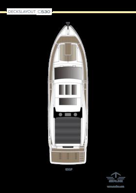 Sealine C530 Disposition - Pont principal