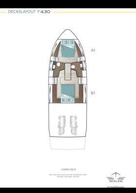 Sealine F430 Layout - lower deck