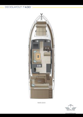 Sealine F430 Layout - main deck