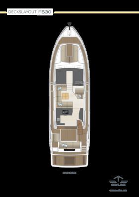 Sealine F530 Планировка - главная палуба