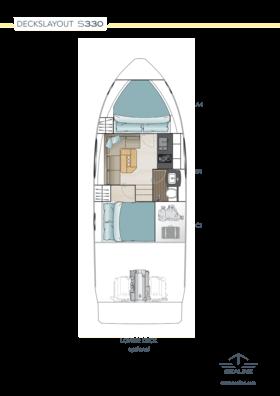 Sealine S330 Макет - нижняя палуба