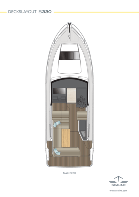 Sealine S330 Макет - главная палуба