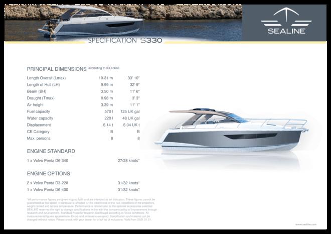 Sealine S330 | Спецификация | Sealine