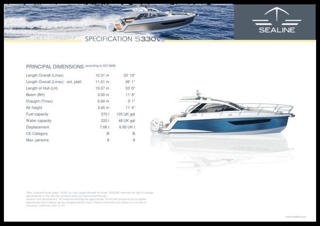 Sealine S330v | Specifiche standard | Sealine