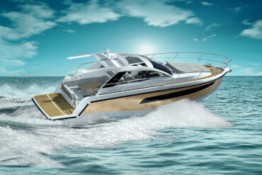 powerboat, cruising, waves, speed, underway, performance
