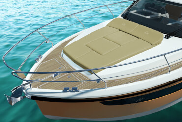powerboat, sunlounge, lounge, daybed, bow, panoramic, view