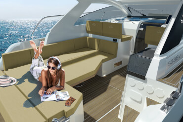 powerboat, weekender, cockpit, sunlounge, relax, sunpad