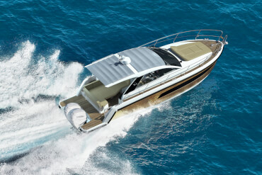 motorboat, outboards, sunroof, cockpit, birds view, speed, performance, cruising