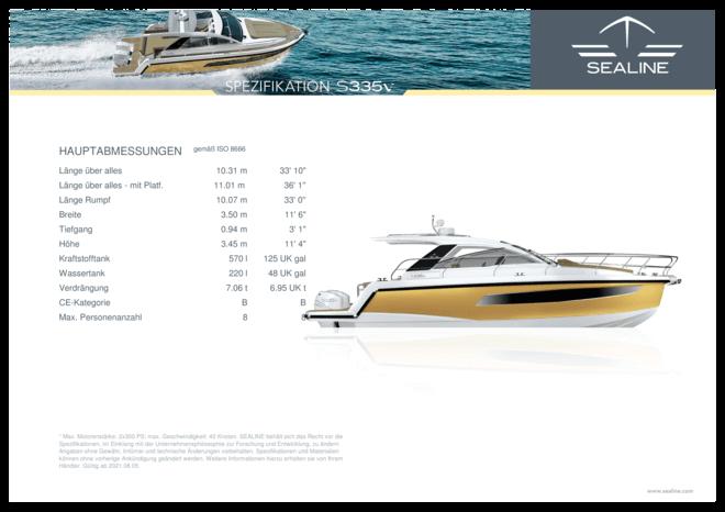 Sealine S335v Spezifikationen | Sealine