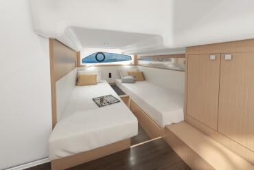 İki ayrı yataklı misafir kabini