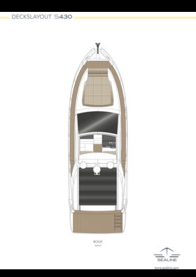 Sealine S430 Layout - Hauptdeck