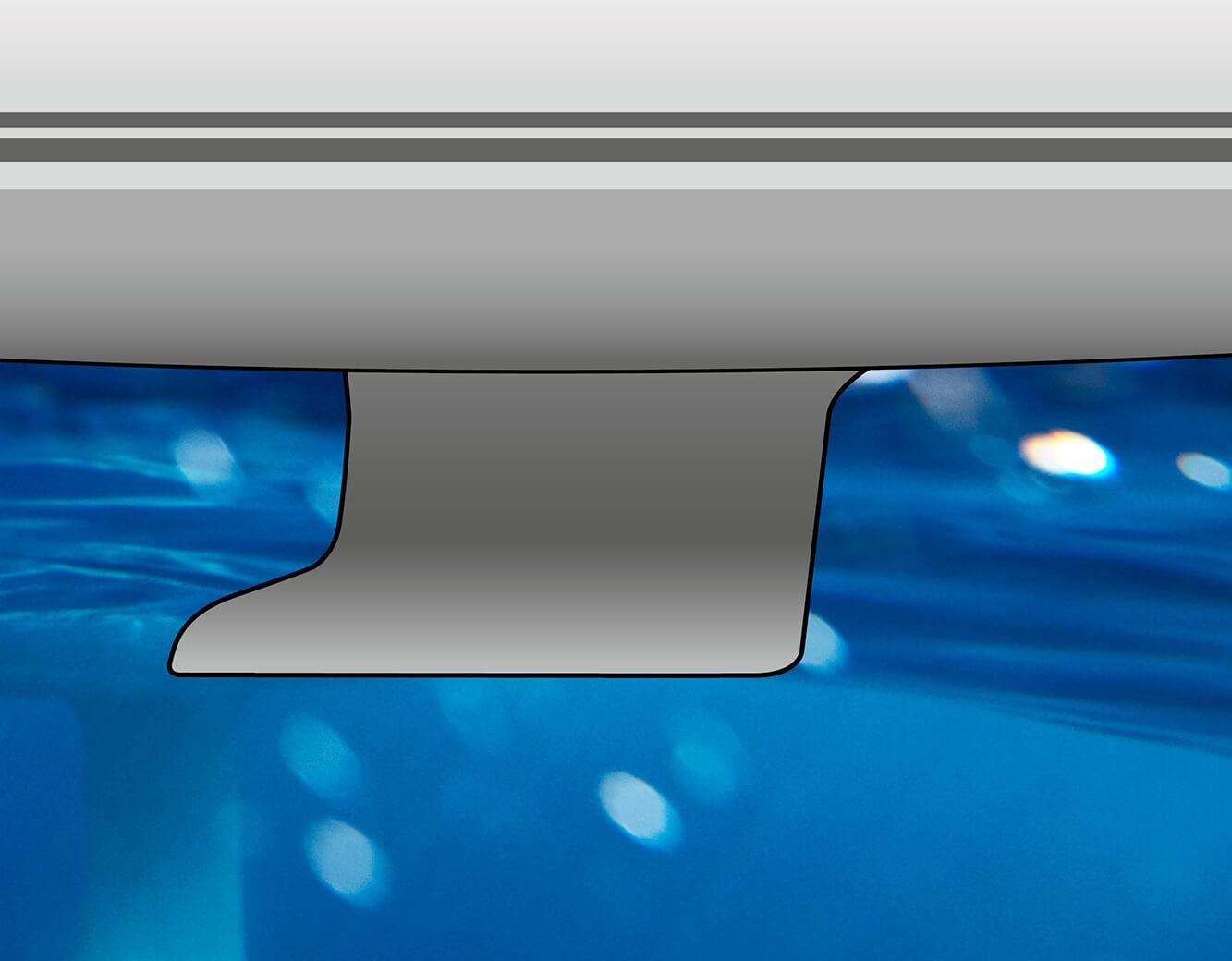 L-keel, cast iron, draft: 1.98 m