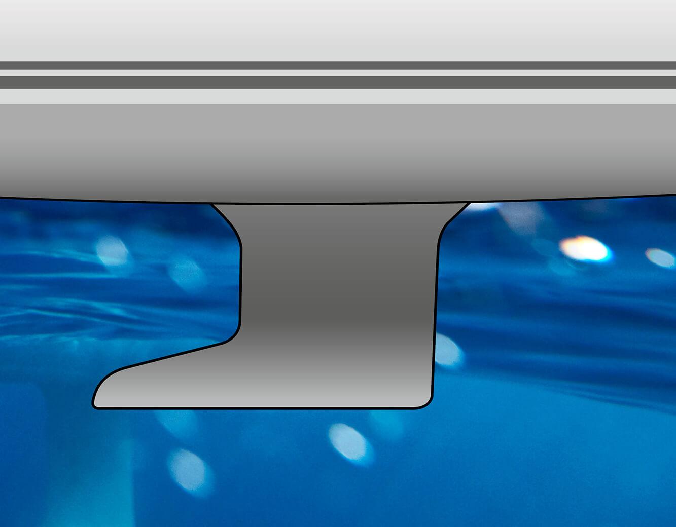 L-keel, cast iron, draft: 1.85 m