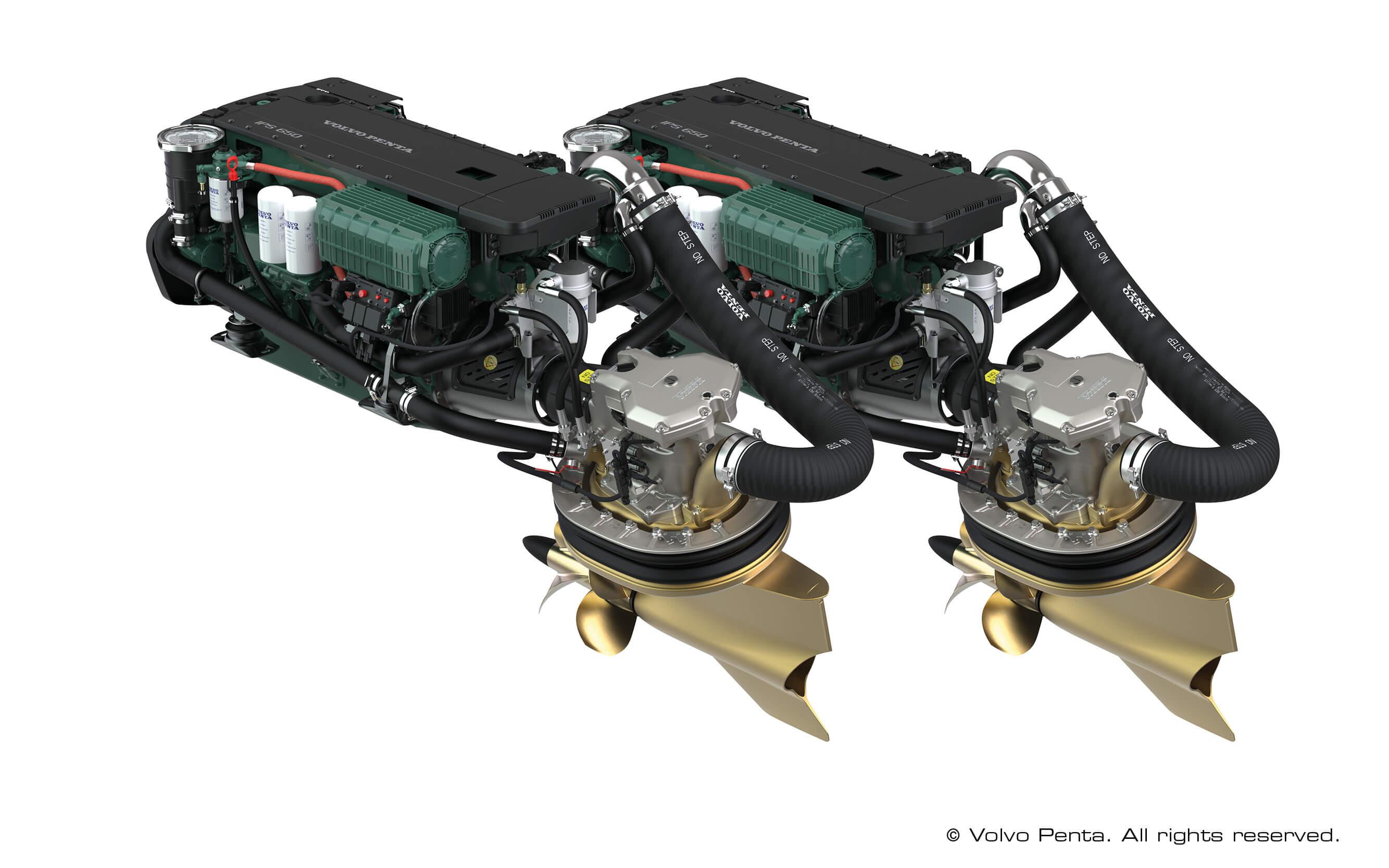 2 Volvo Penta IPS500 (D6 380 PS/280 kW) mit Propeller T7