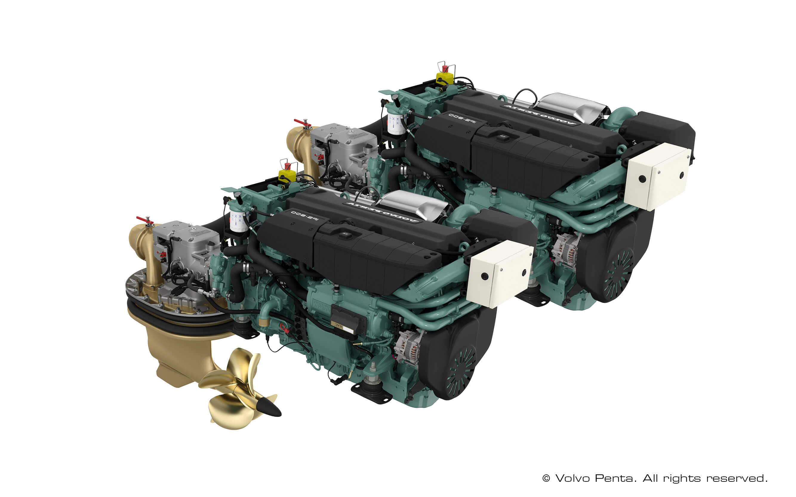 2 Volvo Penta IPS800 (600 hp) with propeller N4