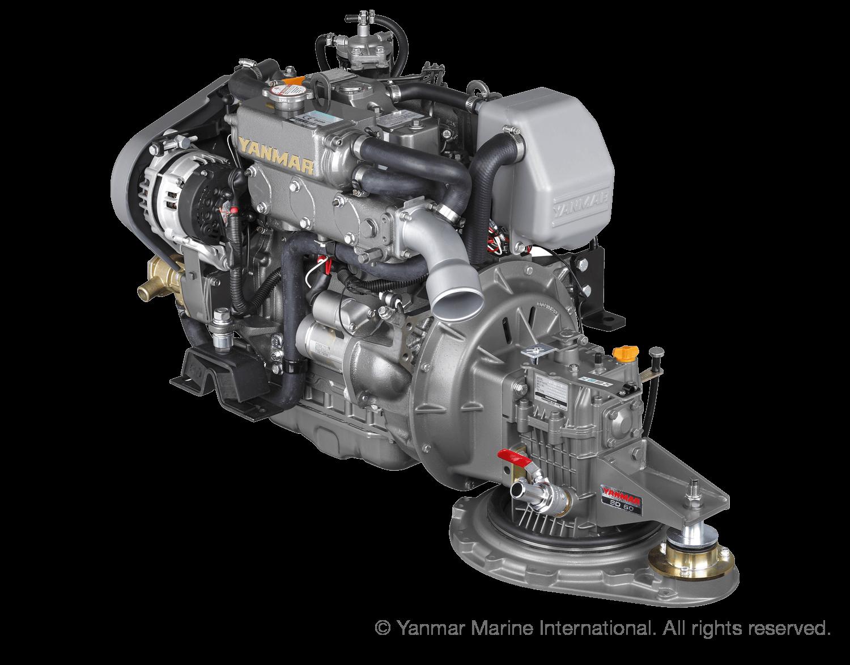 Motor (Diesel, ca. 39 PS) - Saildrive, 2-Blatt Faltpropeller