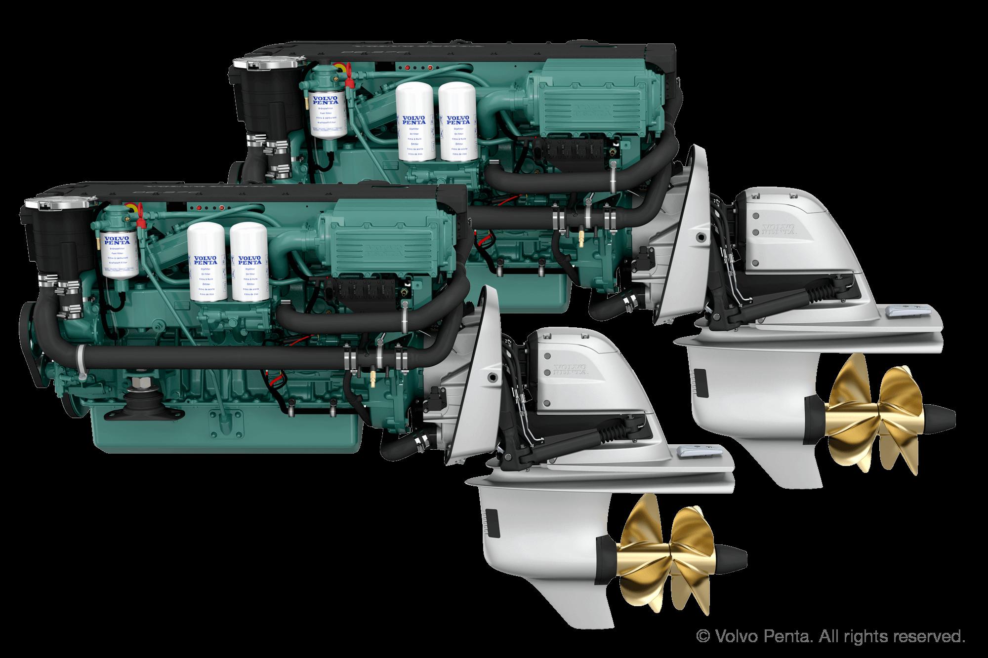 2 Volvo Penta D6-380 (380 PS) - DUOPROP STERN DRIVE mit Propeller G4