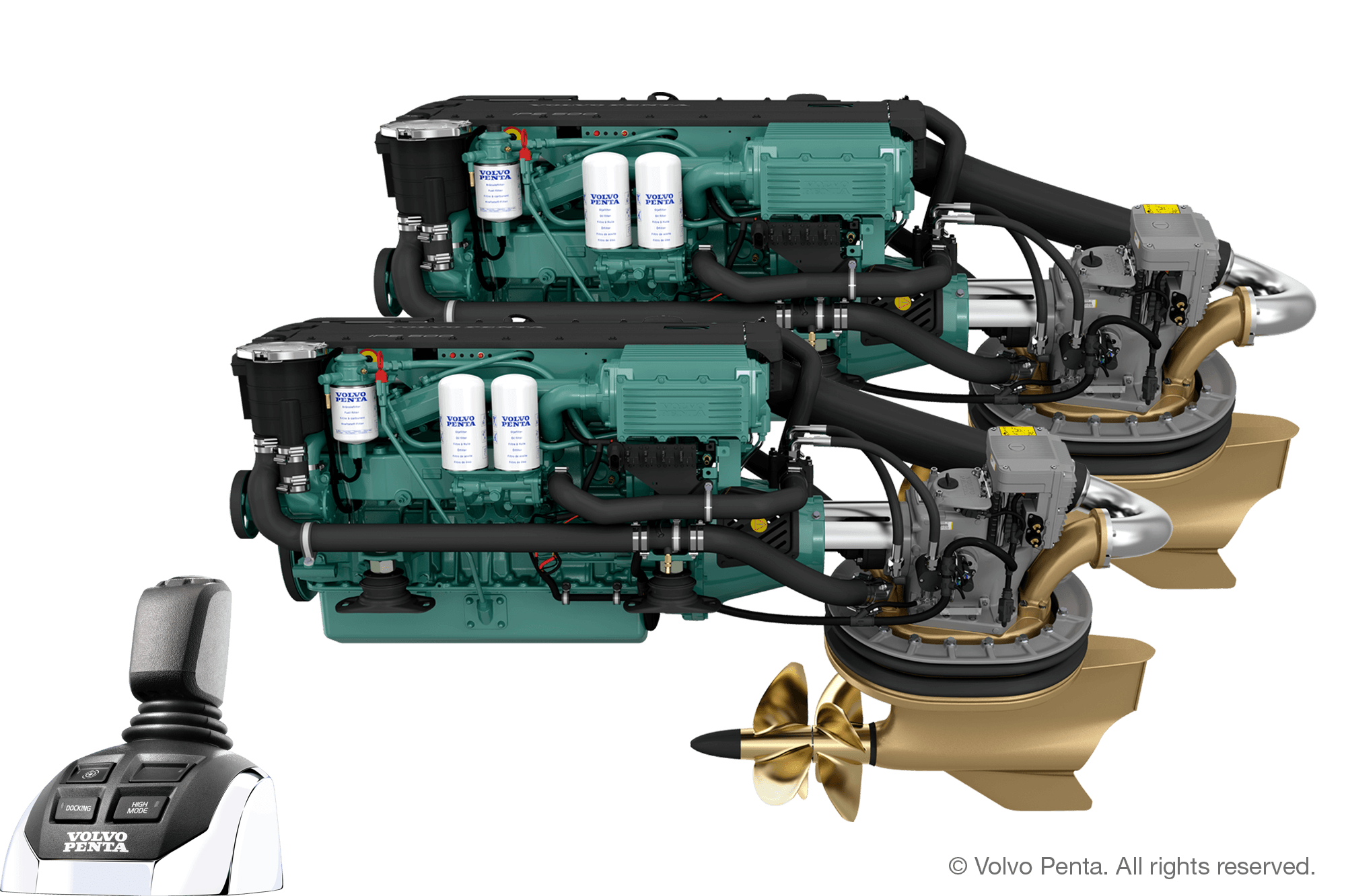 2 Volvo Penta IPS500 (380 hp) - Pod drive with propeller T4
