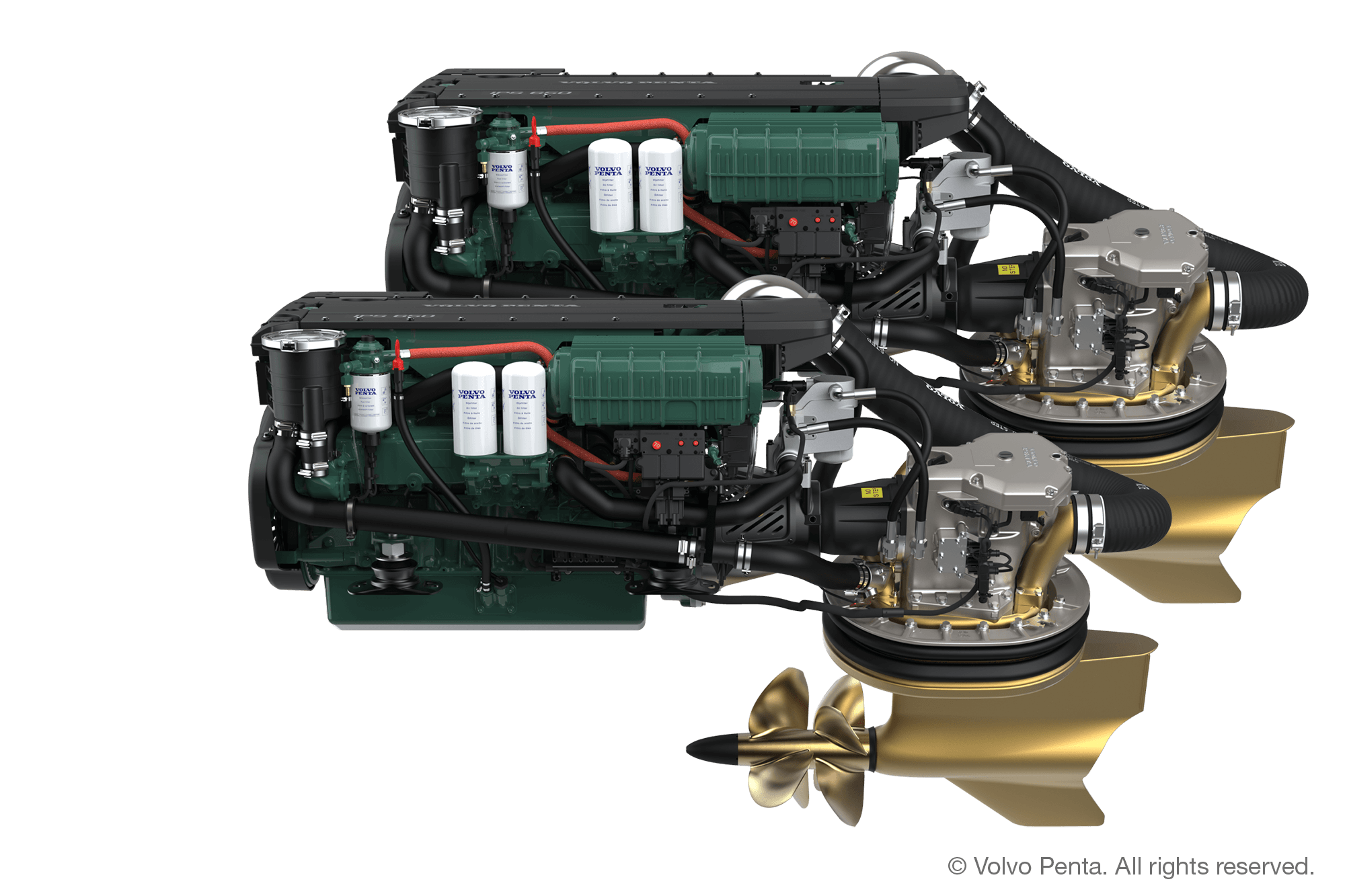 2 Volvo Penta IPS450 (340 hp) - Pod drive with propeller T4