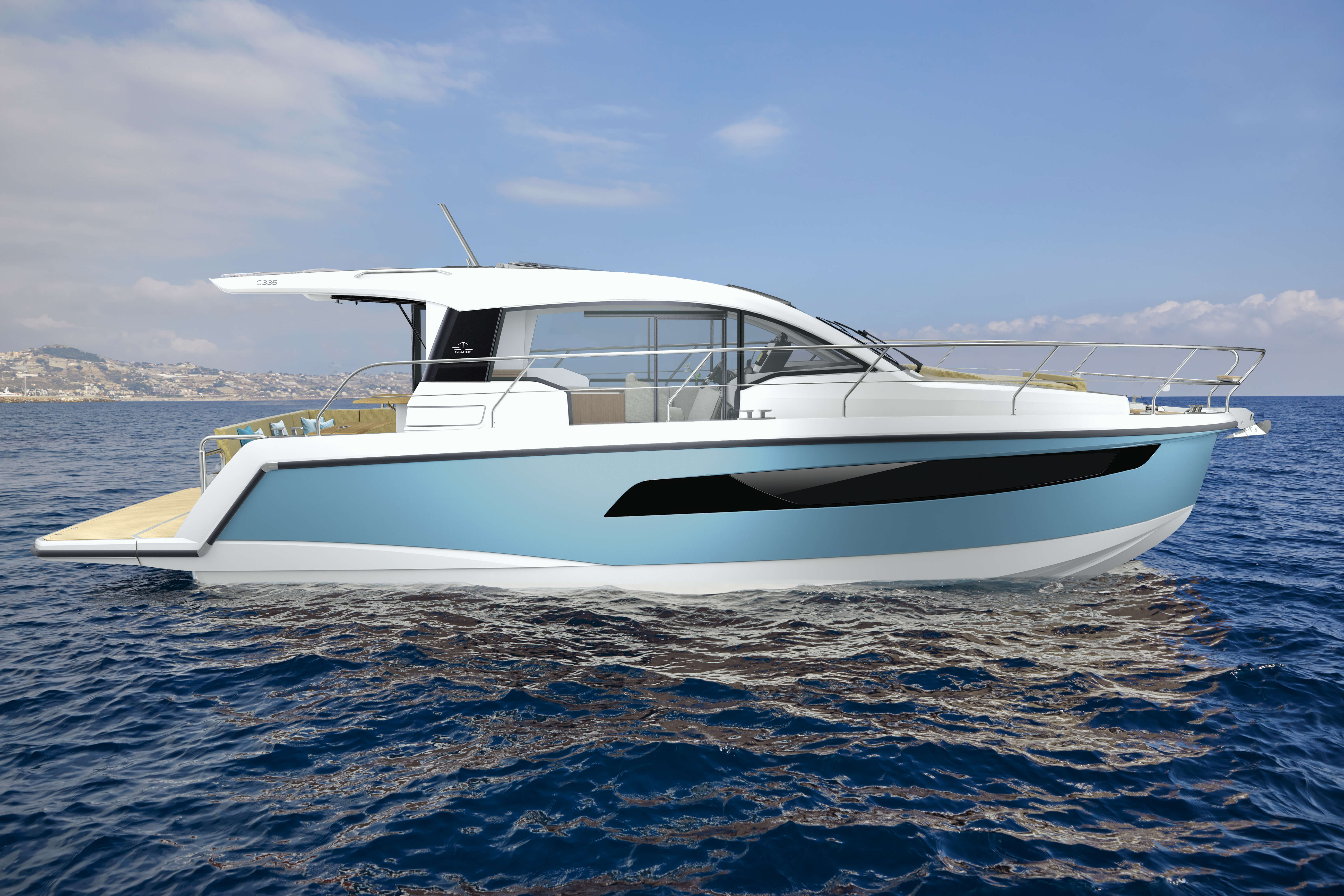 Sealine C335 hull | Each Sealine is one of a kind thanks to materials and colours fully up to you. | Sealine