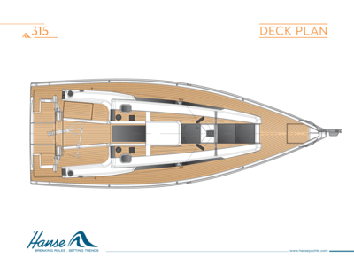 Hanse 315 Deck plan
