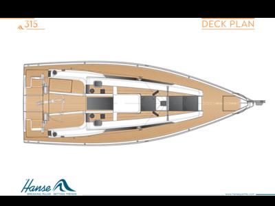 Hanse 315 甲板计划