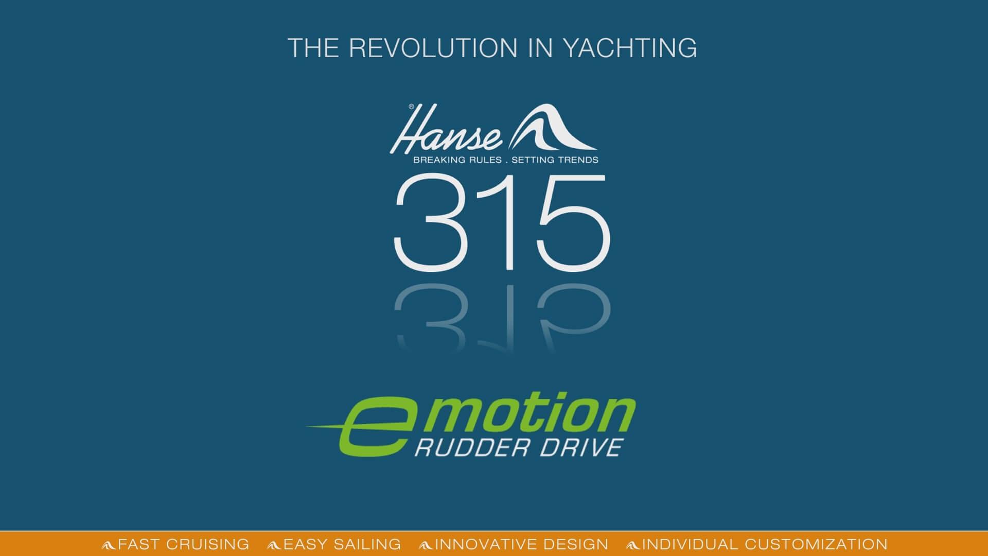 Hanse e-motion RUDDER DRIVE