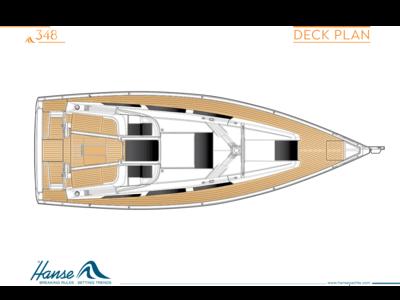 Hanse 348 Deck Plan