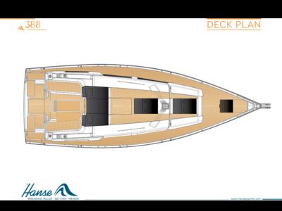 Hanse 388 Deck plan