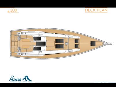 Hanse 508 Deck plan